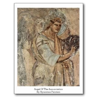 Angel Of The Annunciation By Byzantine Painters Postcards