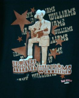 Hank Williams SR Playing Guitar w Stars T Shirt New