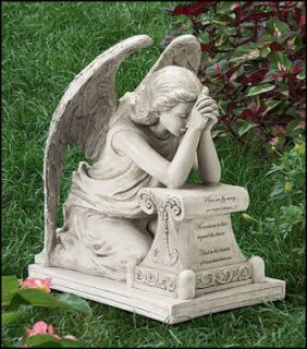 Healing Angel of Grief Outdoor Garden Statue Memorial