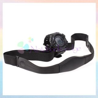 Heart Rate Monitor Watch Calorie Counter Stopwatch with Belt Chest