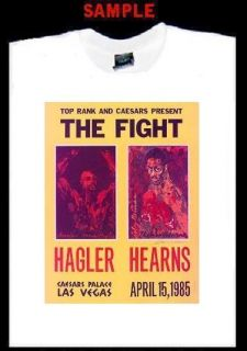 Hagler Hearns Poster Custom T Shirt Tee Boxing T130
