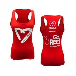 Go Red Heart Zumba Fitness Racerback Tank Top XS