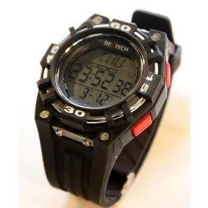 Beatech BH5000BR Heart Rate Monitor Watch Black Red