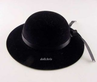 Hat Black for American Girl Velvet Flocked 18 Dolls Caroline Marie