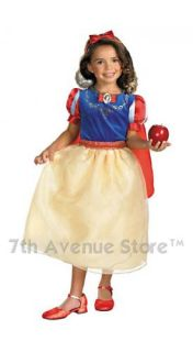 Disney Deluxe Snow White Childs Princess Costume New