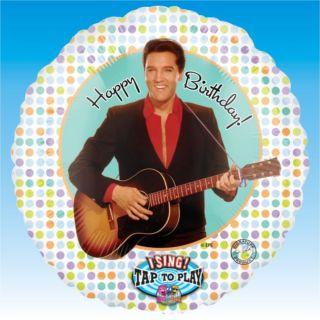 28 Happy Birthday Singing Elvis Presley Foil Balloon