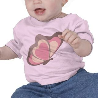 Pink Butterfly Baby T Shirt Infant T Shirt