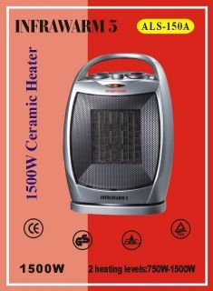 Portable 1 5 KW Oscillating Greenhouse Ceramic Fan Heater with Cool