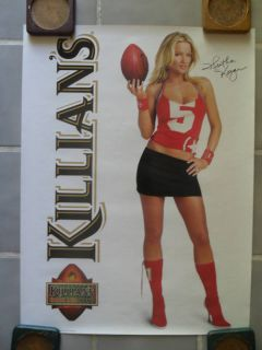 Sexy Girl Beer Poster Killians Heather Kozar Football