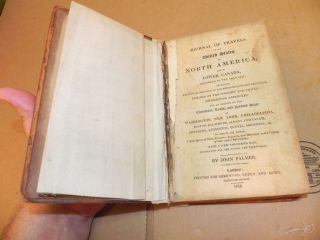 RARE 1818 Travels of North America by John Palmer,Hand Colored Map