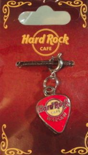 Hard Rock Cafe WARSAW GUITAR PICK CHARM for BRACELET (ORANGE)   NEW