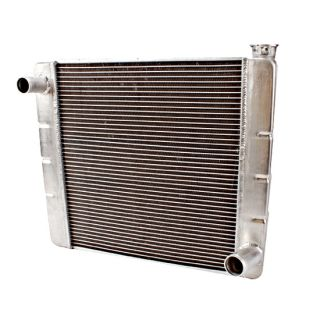 22 Universal Chevy Aluminum Racing Radiator, Billet Filler Neck
