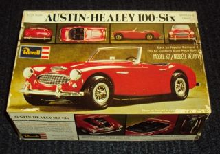 Vintage 1976 Revell Austin Healey 100 Six H 1202 Unbuilt Model Car Kit