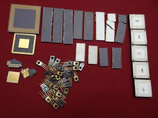 High Yield Ceramic CPU Processor Chips Plus 4 Scrap Gold Recovery