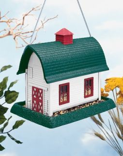 Industries 9067 Large White Barn Bird Seed Feeder Hanging / Mounted