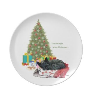 Scottie Dog Christmas Plate