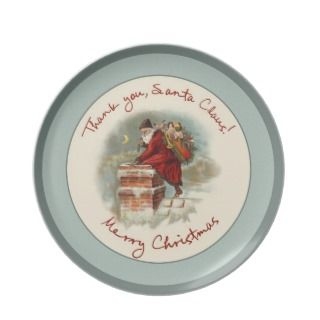 Thank you, Santa Claus! Merry Christmas Plate