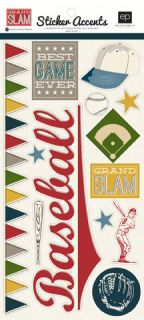 6x12 sheet of stickers in the Echo Park Paper GRAND SLAM design