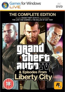 Grand Theft Auto IV GTA 4 The Complete Edition PC Game DVD ROM Brand