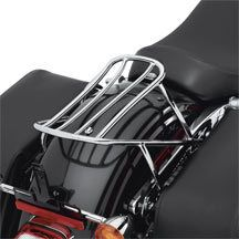 Harley Davidson Detachable Solo Rack   Chrome luggage rack 06 and