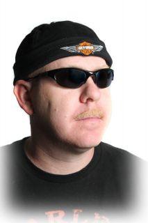 Harley Davidson Black Skull Cap Hat with Adjustable Back Strap