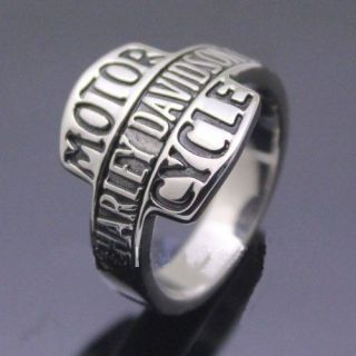 Harley Davidson Ring Size 12 Good Condition Stainless Steel Motor bike