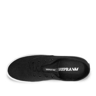Supra Wrap Mens Sneakers in Black White S05010 Blk