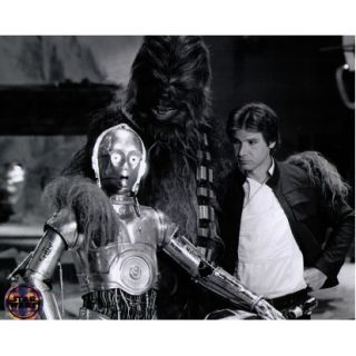 star wars chewbacca c3po hans solo black and white print by official