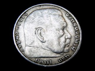 1936a german 5 mark silver nazi coin germany