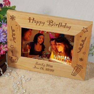 personalized happy birthday wood picture photo frame