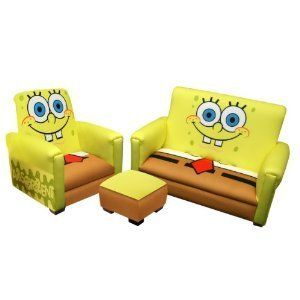 Harmony Kids Nickelodeon Sponge Bob Deluxe Toddler Sofa Couch Chair