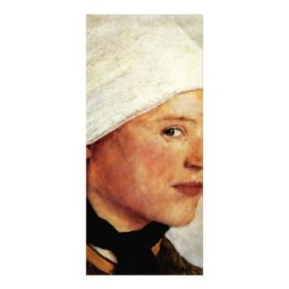 Farm Girl With A White Head Scarf By Leibl Wilhelm Rack Card Design