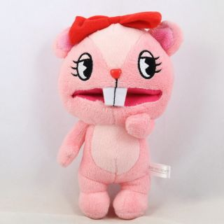 Happy Tree Friends Giggles Pink Plush Stuffed Doll Ball Chain 7 17cm