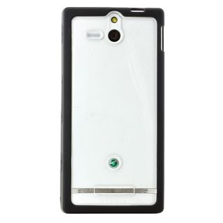Sony Xperia U ST25i Rubber Case Cover Hard Black SMA4119B