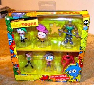 Nickelodeons NICKTOONS Fairly Odd Parents Collectible Figure Set   MIP