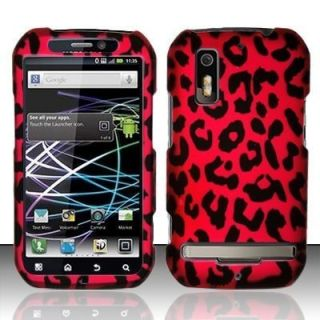 Hot Pink Leopard Hard Protector Case Snap on Phone Cover for Motorola