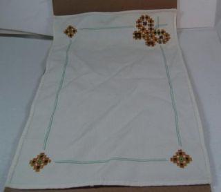 Vintage Butterfly Hardanger Dresser Scarf Placemat