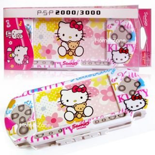 Hello Kitty Hard Cover Case for Sony PSP 2000 3000 Game