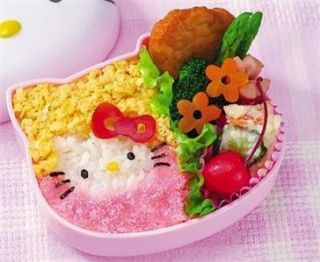 Japanese Bento Lunch Accessories Hello Kitty Mold Set B