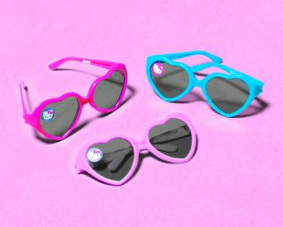 Hello Kitty Party Supplies Heart Shaped Sunglasses 12 Each