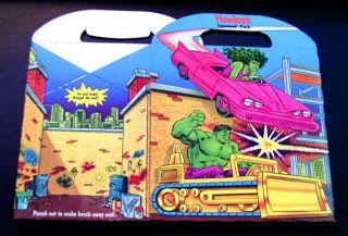 1990 Hardees Marvel Toy Box Spider Man Hulk Captain America She Hulk
