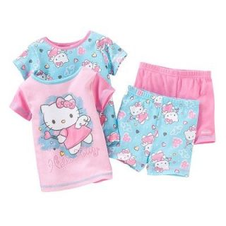 Hello Kitty Angelic Pajamas Shirt Shorts PJs Toddler Girls 2T 3T 4T