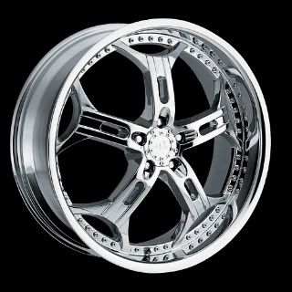 20 Helo HE834 5x4 5 20x8 Avenger Intergra Mustang Chrome Wheels Rims