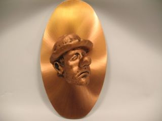 Helton Copper Sad Clown 3D Wall Art Sculpture Plaque