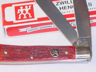Henckels Pocket Knife Mirror Stainless Henckles Trapper 2 Blade German