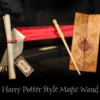 Harry Potter Style REAL MAGIC WAND Marauders Map sm Hogwarts Express