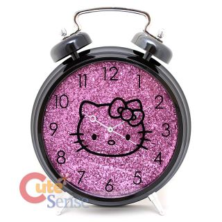 Sanrio Hello Kitty Alarm Table Clock Watch Purple Shine 1