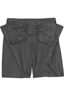 See by Chloé Bow embellished polka dot shorts