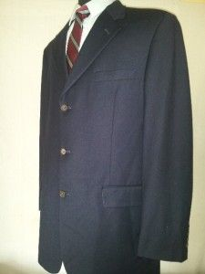 Navy NWOT 42L Brooks Brothers 3 Btn Blazer, Wool/Cashmere Worsted