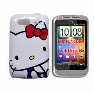 hello kitty cartoon hard back cover case for HTC Wildfire S G13